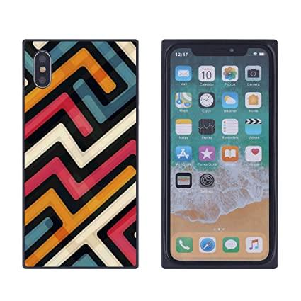 best loved 4617e a708b Amazon.com: iPhone Xs iPhone X Rainbow Stripe Case, Soft Flexible ...