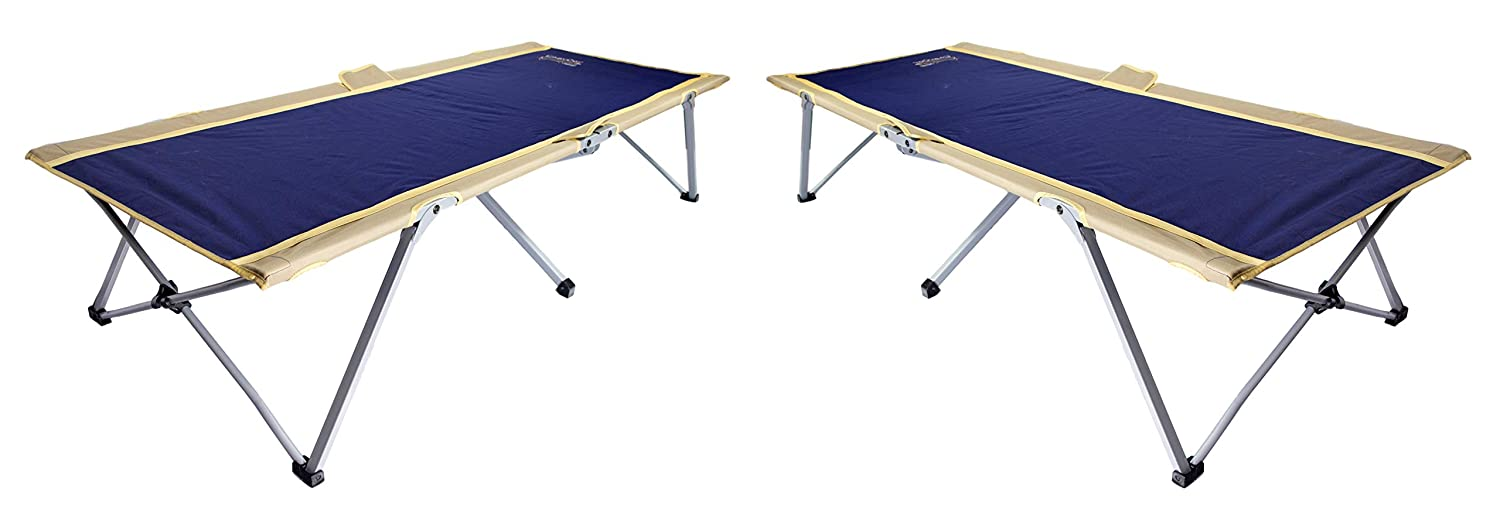 BYER OF MAINE Easy Cot, Extra Large, 78 L X 31 W X 18 , Easy to assemble, Ideal for guest bed, 330lb weight limit, Camp Cots for Adults, Folding Cot, Cot for Sleeping, Comes with Travel Bag, Two Pack