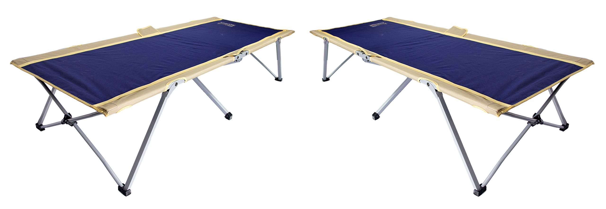 BYER OF MAINE Easy Cot, Ideal for Camping and Hunting, Indoor Guest Bed, Easiest Cot to Assemble, Comes with Travel Bag, Two Pack