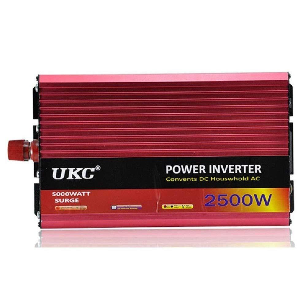 xbnbq 2500W 3000W 4000W Inverter 12v 220v Onda Pura DC 12 V 24 V 48 V 60 V A AC 220~230 V 50 Hz Convertitore per Uso Domestico Auto Lavatrice da Campeggio Rasoio Esterna camper2500W-12V