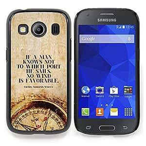 """For Samsung Galaxy Ace Style LTE/ G357 Case , Tiempo hombre inteligente profundo Brújula Cita"""" - Diseño Patrón Teléfono Caso Cubierta Case Bumper Duro Protección Case Cover Funda"""