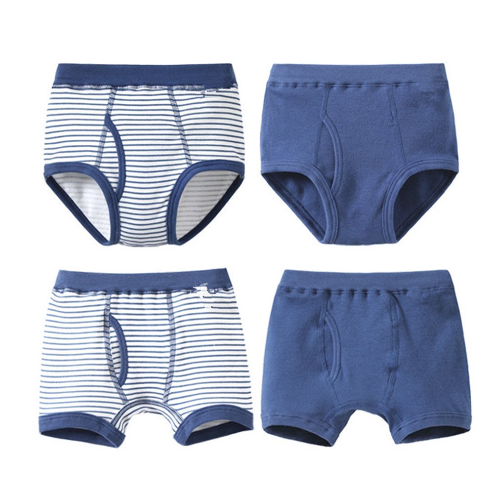 adiasen 4 Pcs/Lot Boys Briefs and Boxers Set Soft Organic Cotton Underwear Knickers