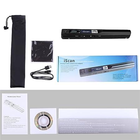 Escáner de Documentos portátil AOZBZ, Escáner de Mano USB 900DPI Escáner de Imagen de Color A4 Escáner móvil de Foto en Color (Formato JPG/PDF, ...