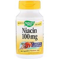 Nature's Way ナイアシン Niacin 100mg 100カプセル [並行輸入品] - 2 Packs