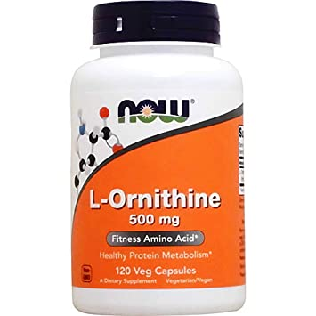 Now L-Ornithine 500 mg,120 Veg Capsules