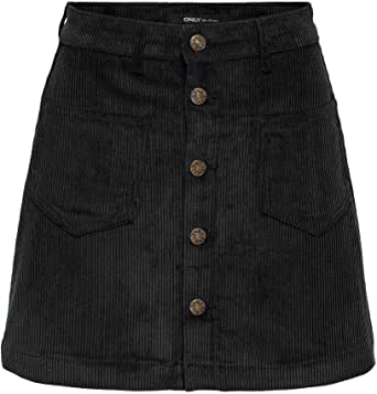 Only Onlamazing HW Cord Life Skirt Pnt Noos Falda para Mujer