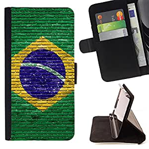 King Case - FOR Samsung Galaxy S6 EDGE - The door of god - Prima caja de la PU billetera de cuero con ranuras para tarjetas, efectivo Compartimiento desmontable y correa para la mu?eca