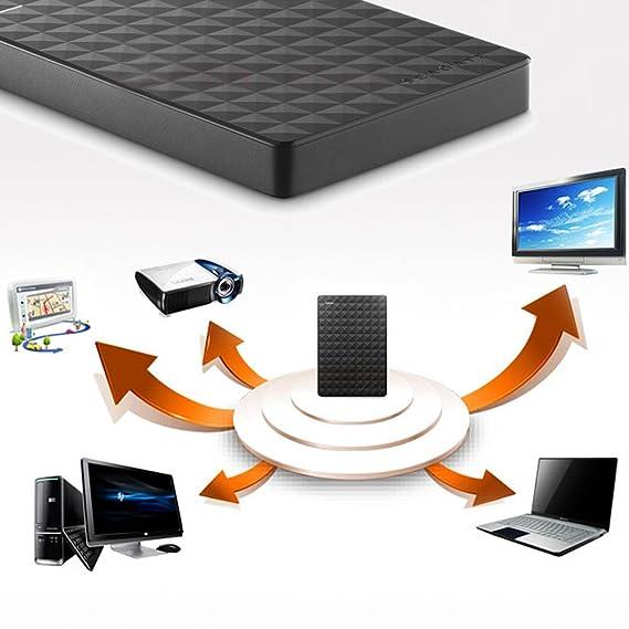 Seagate Seagate Expansion USB 3.0 2.5 2TB Disco Duro Externo portátil para ordenador de sobremesa stea3000400: Amazon.es: Informática