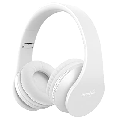 Esonstyle - Auriculares de diadema estéreo plegables inalámbricos con Bluetooth y función de llamadas manos libres