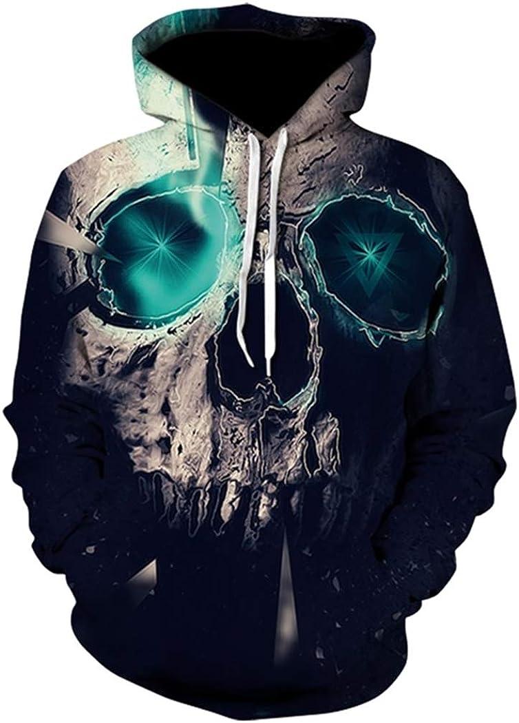 NingYu New 3D Sweatshirt Skull Hoody Printed Hoodies Streetwear Pullovers Jackets Clothing XL