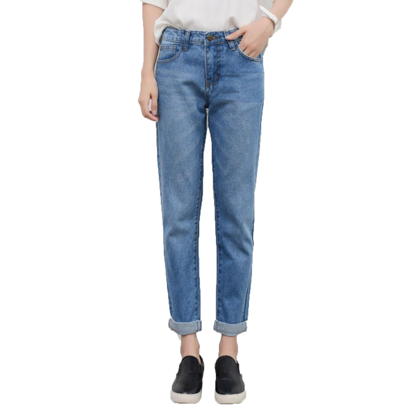 Swellog Spring Fashion BF Ripped Jeans for Women High Waist Loose Skinny Jeans