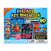 Elmer's Foil Art Kit, Includes 10 Posters, 40 Foil Sheets and Stickers, Assorted (EC61091)