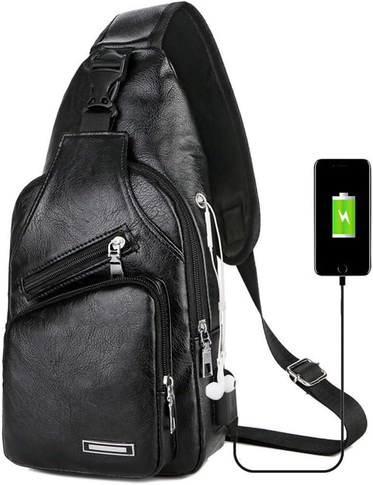 BBT-Shop Messenger Bag Shoulder Bags with USB Charging Waterproof Travel Shoulder Backpack Sling Chest Crossbody Bag Cover Pack Rucksack Backpack Bicycle Sport Bag for Men Women Work Business