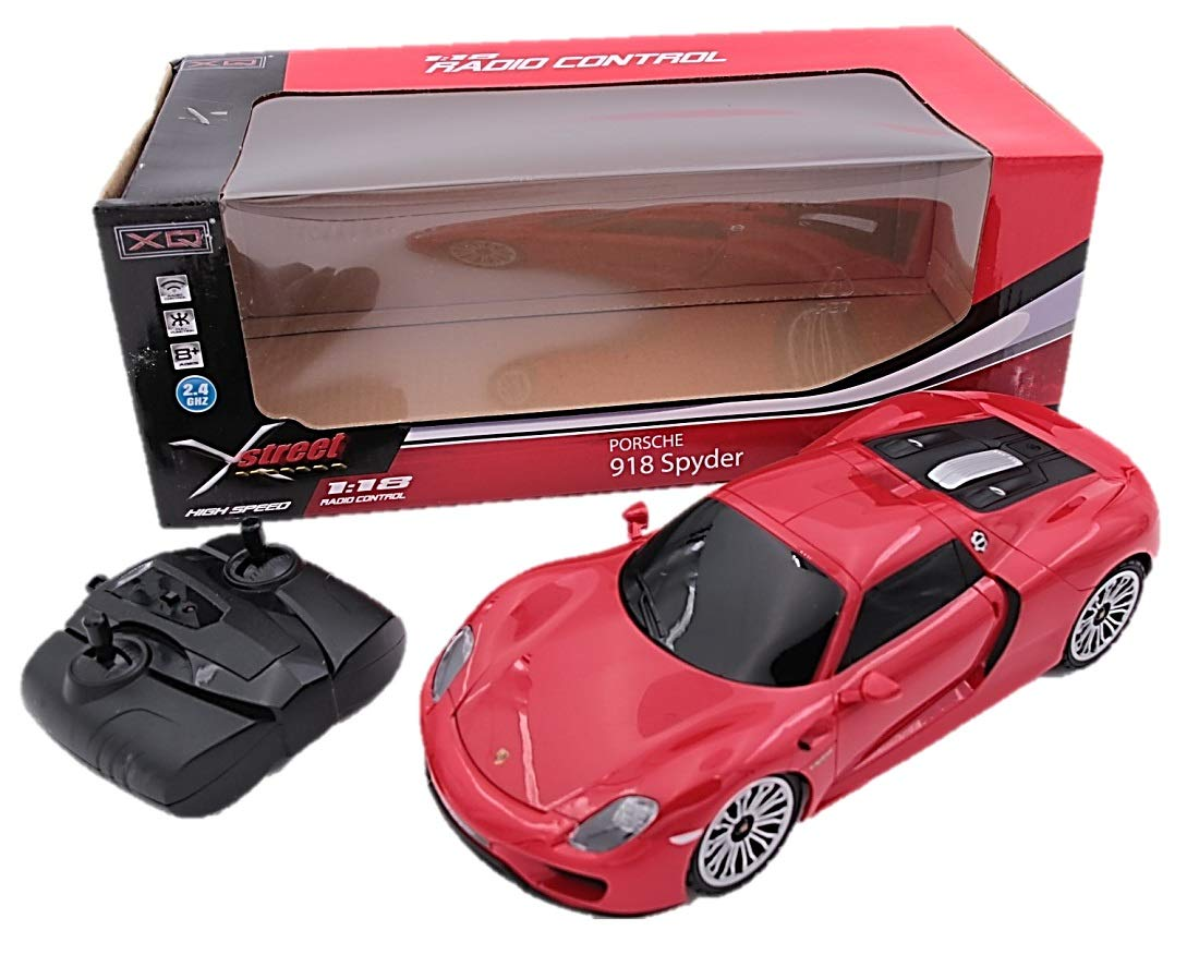 Red 2.4Ghz Radio Remote Control Car 1//18 Scale Porsche 918 Spyder