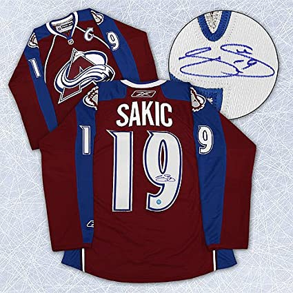 official photos e604a c48df Joe Sakic Colorado Avalanche Autographed Reebok Premier ...