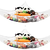 2PCS Toy Hammock Ball Storage Net Stuffed Animal Hammock Toy Net for Stuffed Animals Teddies Large Mesh Toys Holder Net…