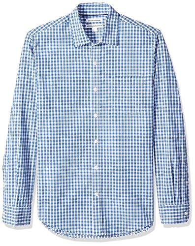 Amazon Essentials Mens Slim-Fit Long-Sleeve Check Shirt
