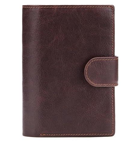Carteras de pasaporte de cuero para hombres Bolsos Cartera Carteras de ID multifuncionales Carteras de regalo