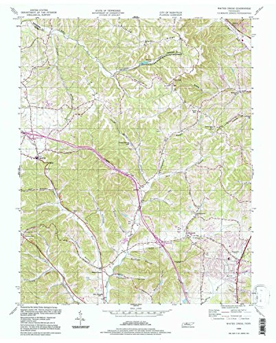 Whites Creek TN topo map, 1:24000 scale, 7.5 X 7.5 Minute, Historical, 1994, updated 1997, 27.2 x 21.9 IN - - Crocker Map Park