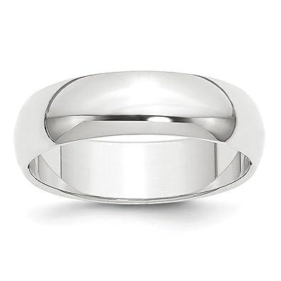 Amazon.com: Jewels By Lux - Alianza de boda semiredonda de ...