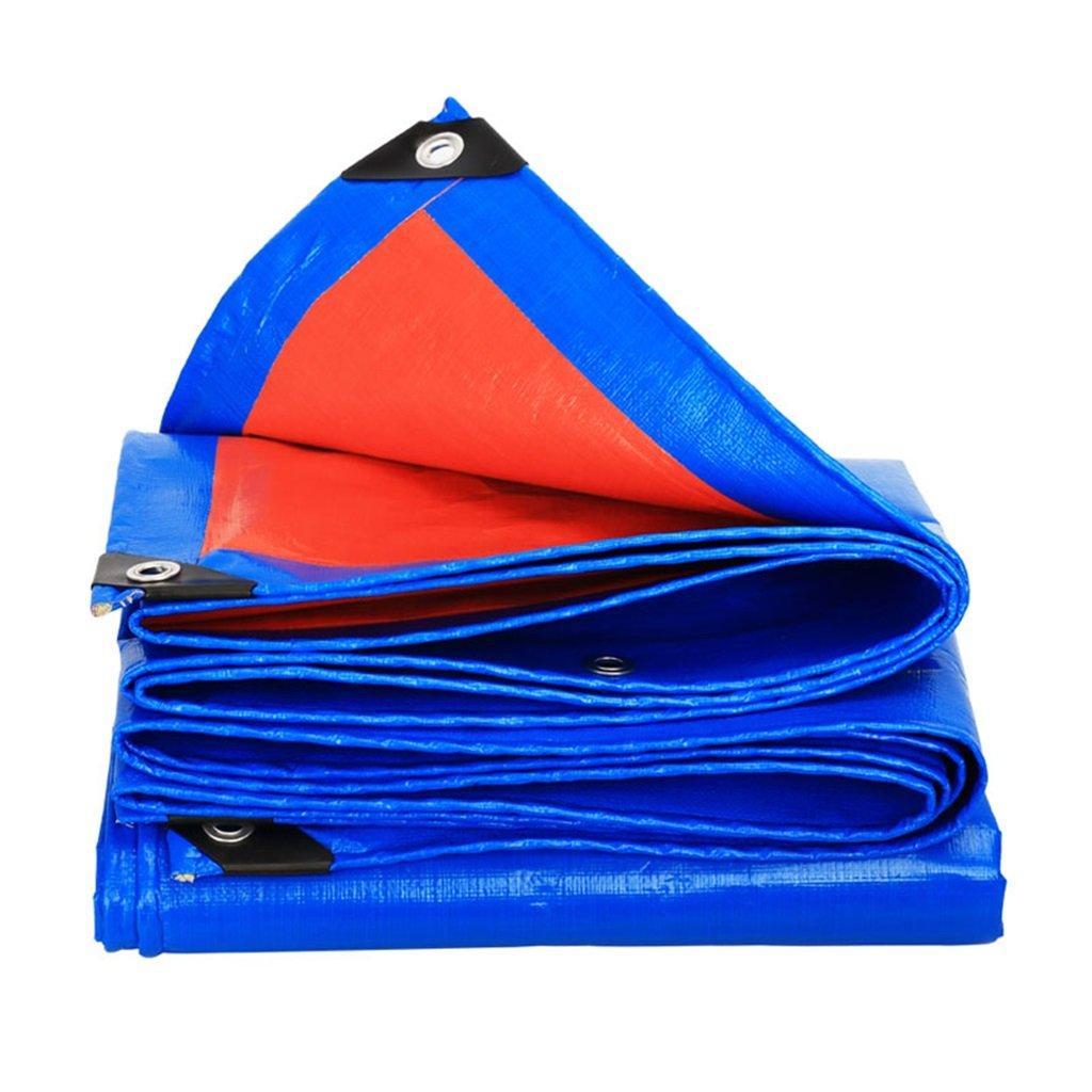 WSGZH Plane Wasserdicht Und ÖlBesteändig Plane Dreirad Markise Wasserdicht Plane, Dicke 0,35 Mm, 180 G   M2, Blau + Orange, 18 Größenoptionen