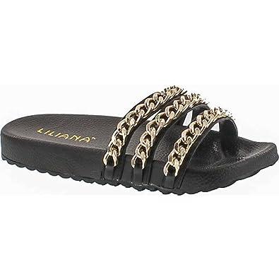 LILIANA Nomi Faux Fur Slip-On Sandal g1zcT0H7zl