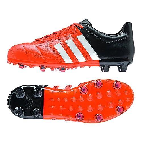 finest selection 4a6c9 2d8a3 Adidas Ace 15,1 FGAG Scarpe da Calcio in Pelle Bambini, (ArancioneNero),  36 23 Amazon.it Scarpe e borse