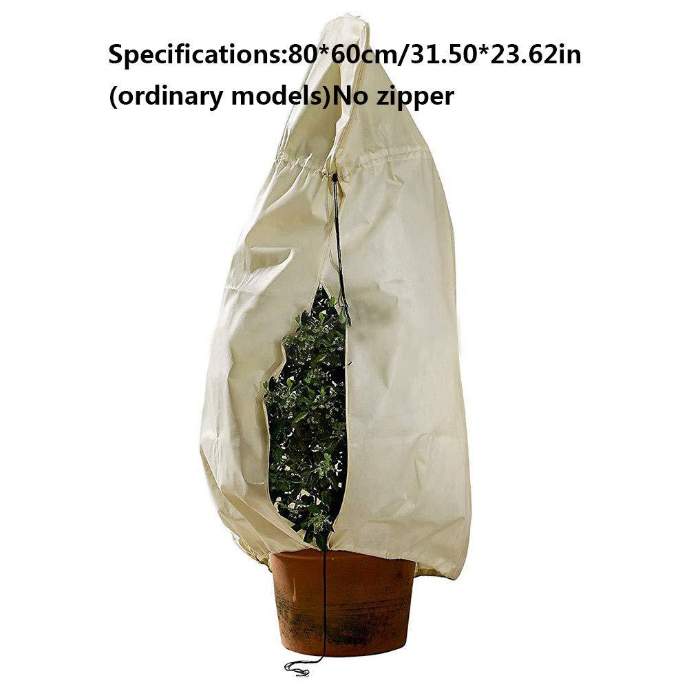 Without Zipper Cindaya Housse de Protection Anti-Gel pour Plantes dhiver Anti-Givre 100 80cm