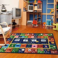 Furnish my Place ABC Alphabet, Seasons, Months and Days of The Week Educational Learning Area Rug Carpet for Kids and Children Bedrooms and Playroom