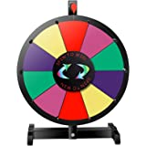 "Smartxchoices 15"" Spinning Prize Wheel Tabletop Color 10 Slots Customized Carnival Fortune Small Wheel Spinner Game with Editable Spinning Fortune Wheel Dry Eraser & Marker Pen Heavy Duty (15"")"