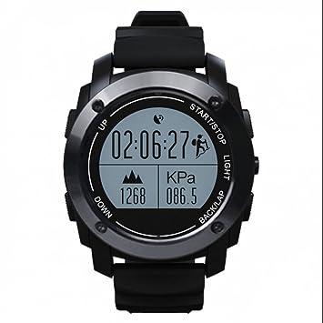 Montre Connectée Bluetooth Montre de Running Cardiofréquencemètre Sommeil Rappel Sédentaire GPS Altimètre Baromètre Thermomètre pour Android