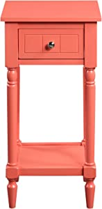 Convenience Concepts French Country Khloe Accent Table, Coral