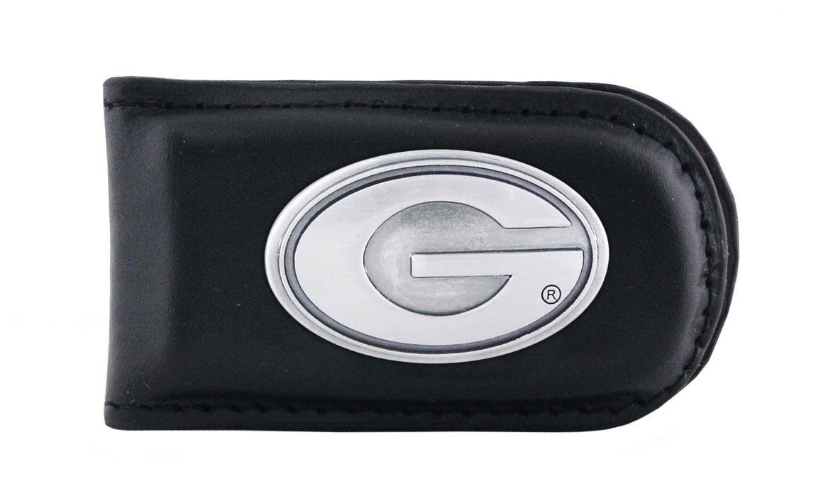NCAA Georgia Bulldogs Leather Magnet Concho Money Clip Zeppelin Products Inc