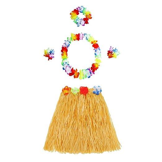 GreSky 5 en 1 vestido de fiesta hawaiano disfraz Set Hula ...