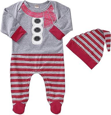 Newborn Infant Baby Boy Girl Snowman Romper Jumpsuit Playsuit Clothes Outfit Set