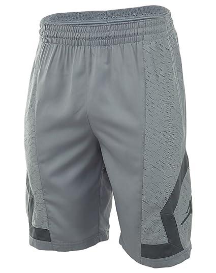 35bb2d3a85e1 Amazon.com  Jordan Men s Nike Flight Diamond Rise Basketball Shorts-Wolf  Grey-L  Sports   Outdoors