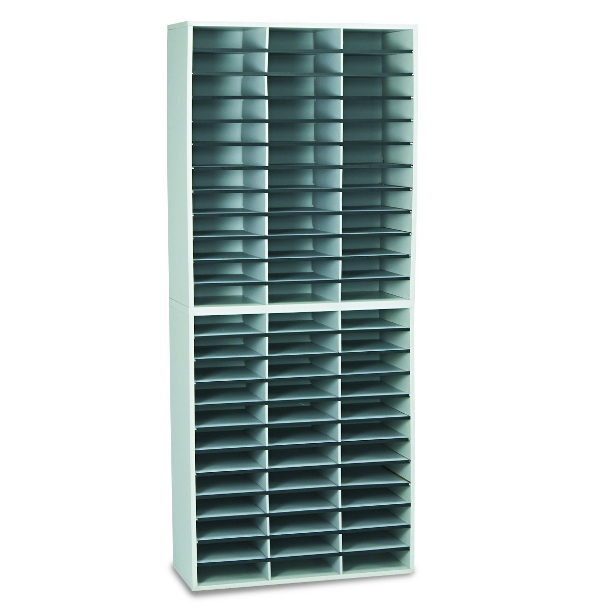 Fellowes 25121 Literature Organizer, 72 Letter Sections, 29 x 11 7/8 x 69 1/8, Dove Gray