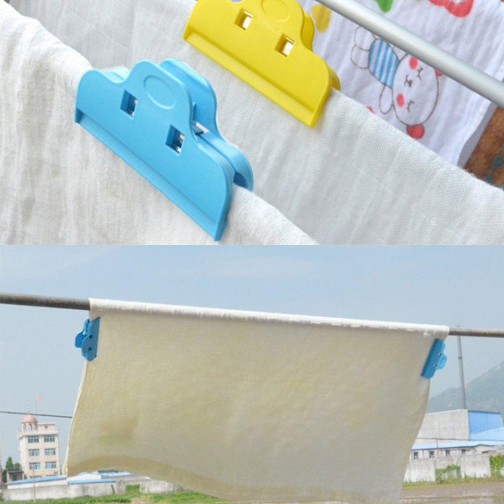 Clip herm/étique couleur al/éatoire // 4pcs clip herm/étique pinces /à sac alimentaire sac de fermeture en plastique pour cuisine et m/énage