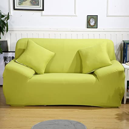 Stretch Loveseat Cover Sofa Slipcover,Plain Color Elastic Polyester Spandex Fabric Slipcover Couch Chair Sofa Protector Covers for Home Apartment ...