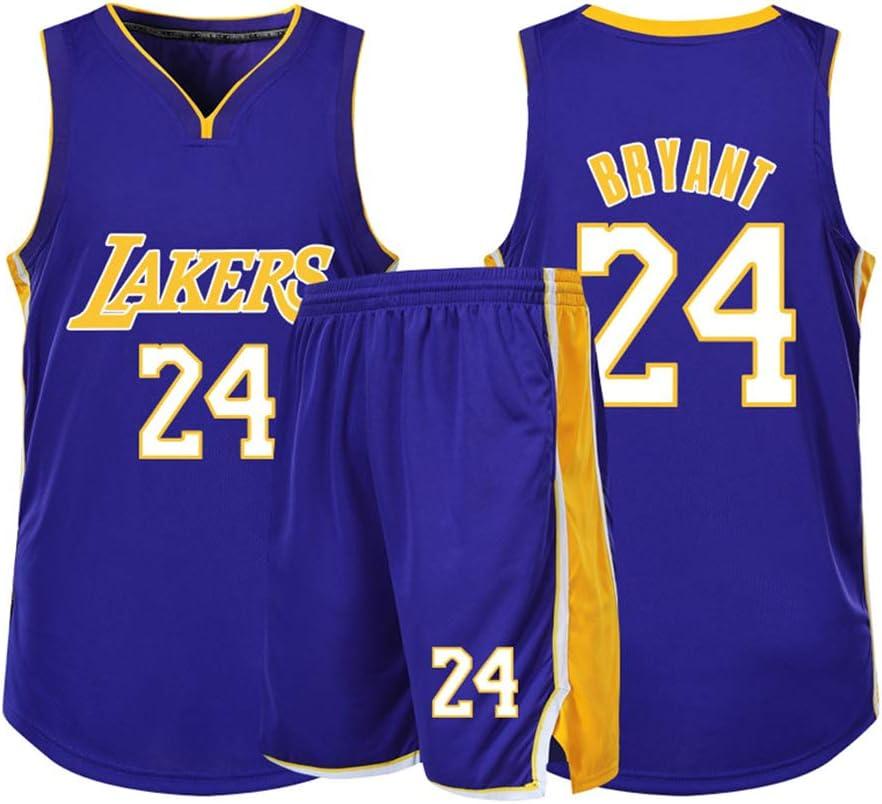 2-Piece Black Mamba Basketball Jerseys Clothing Tank Top and Shorts Set # 24 Kobe Lakers Basketball Jersey for Men and Women