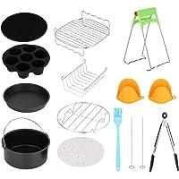 Juego de accesorios para freidora, kits de freidora de aire caliente universal de 7 pulgadas con accesorios para canasta…