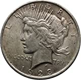 1923 Peace AR Dollar United States of America Large Coin with Aquila i44885
