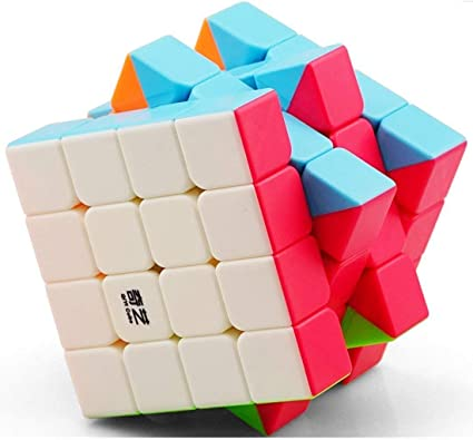 IndiaBuy 4x4x4 QIYI Stickerless Rubiks Magic Smooth Speed Cube 3D-Puzzle Cube Recommended for 3-99 yrs