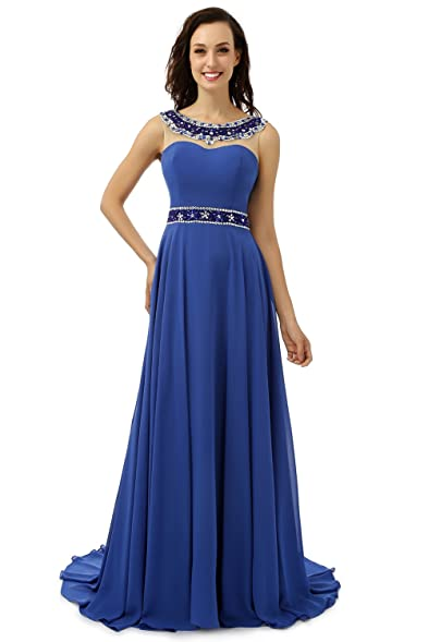 Butalways Long Prom Dress Royal Blue 2017,Elegant Evening Dress (0)