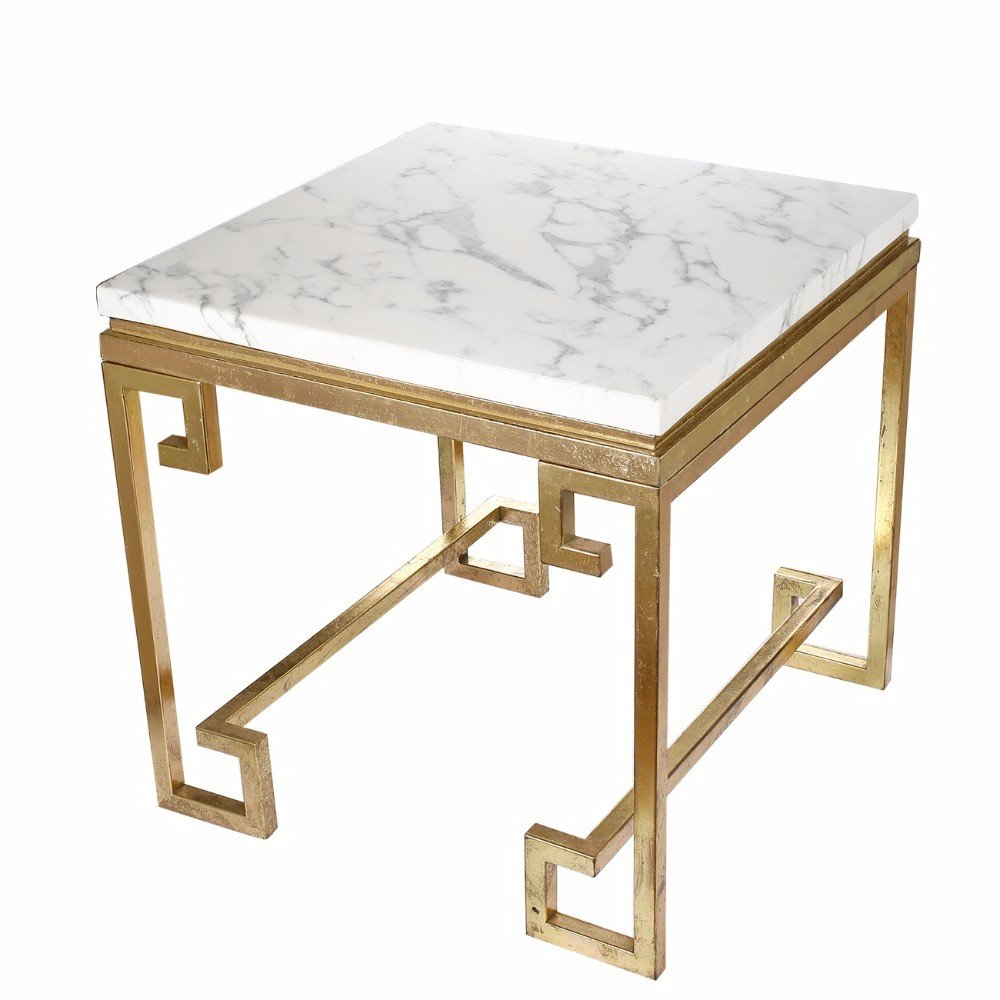 Amazoncom Benzara Vintage Phoenician Nights Marble End Table