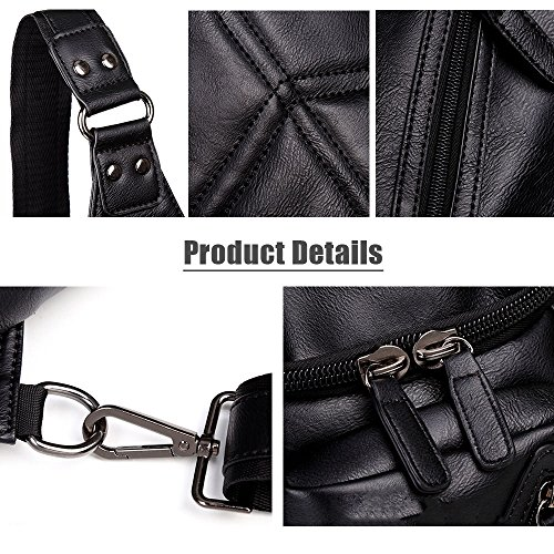 Capacity Functional PU Teens Fashionable for Men Bag for Shoulder Body Bag Boys Bag Cross Leather Large with and Soft Travel iVotre Sling xSqz0RwPO