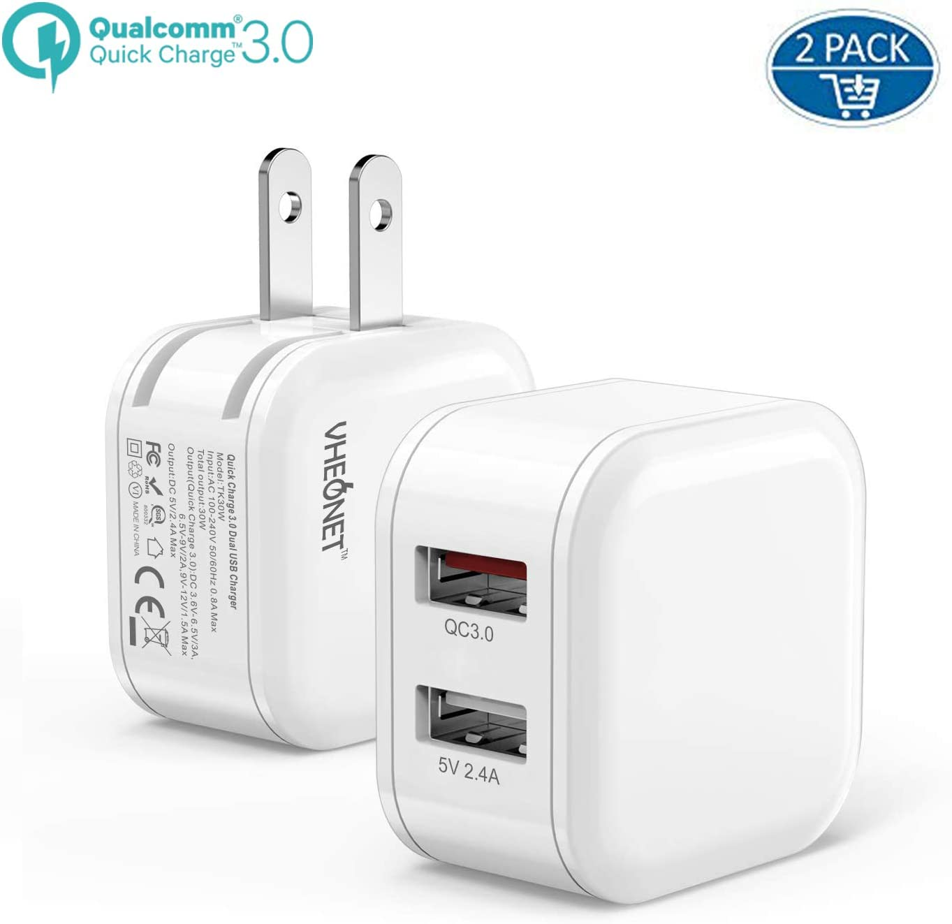 Galaxy S10 9 8 7 Plus LG Google one Plus 6 Phone iPad Mini Air Pro Car Charger,Dual USB Wall Charger and Car Charger with Travel Adapter Foldable Plug Home for iPhone X Xs MAX 6 7 8 Plus