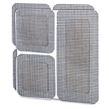 Window and Door Screen Repair Patches 6 Pcs Set - Strong Fiberglass - Adhesive Backing - Fix Mend Repair Rips Holes Damaged Mesh Screens Stop Intruding Insects Flies - Multi Uses by Perfect Life Ideas