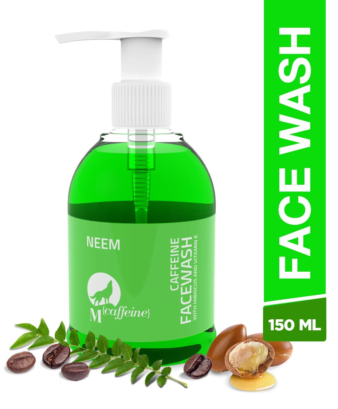 Mcaffeine Neem Face Wash Cleanser With Argan Oil & Vitamin E For Men And Women - 150 ml product image