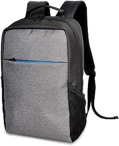 15.6 Inch Laptop Backpack for Men Lightweight Business Computer Backpacks Nylon Waterproof College School Travel Bags Gray